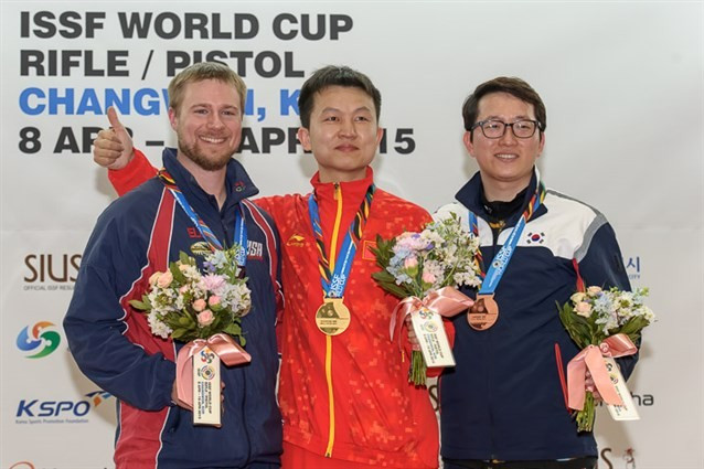 China's Hui returns from six-year absence to take ISSF World Cup gold
